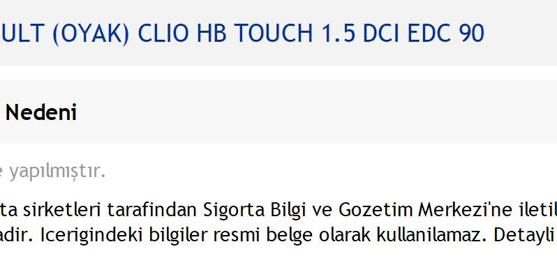 2018 DİZEL OTOMATİK RENAULT CLIO 1.5 DCI TOUCH EDC FATURALI dolu