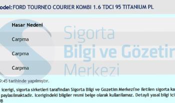 FORD TOURNEO COURIER 1,6 TDCI 95 HP TITANIUM PLUS dolu